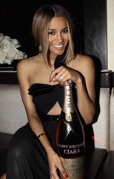 Ciara celebrates her birthday at Moët Rosé Lounge at Houston's Hotel Derek